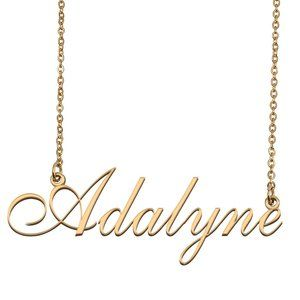 Custom Personalized Adalyne Name Necklace